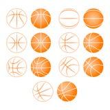 Koszykówka, balowa sylwetka Obrazy Stock
