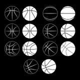 Koszykówka, balowa sylwetka Zdjęcia Stock