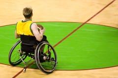 koszykówka człowieka osób wyłączony koło krzesła Obraz Royalty Free