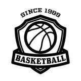 Koszykówka emblemat Obraz Stock
