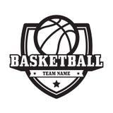 Koszykówka emblemat Zdjęcie Stock