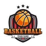 Koszykówka emblemat Fotografia Royalty Free
