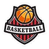 Koszykówka emblemat Zdjęcia Stock