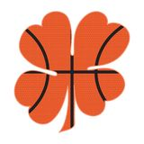 Koszykówka Koniczynowy kształt Obraz Royalty Free