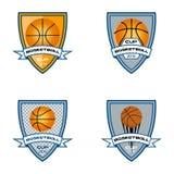 Koszykówka logo dla drużyny i filiżanki Zdjęcia Royalty Free