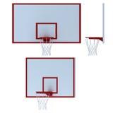 Koszykówka obręcz na białym tle Zdjęcie Royalty Free