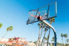 Koszykówka obręcz w Wenecja plaży Zdjęcie Royalty Free