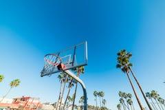 Koszykówka obręcz w Wenecja plaży Obrazy Royalty Free