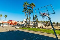 Koszykówka obręcz w Wenecja plaży Fotografia Royalty Free