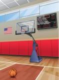 Koszykówka obręcza sąd Zdjęcie Stock