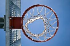 koszykówka pod obręczem Obrazy Stock