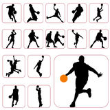koszykówka set Obrazy Royalty Free