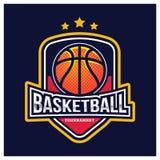 KOSZYKÓWKA sporta AMERYKAŃSKI logo Obraz Stock