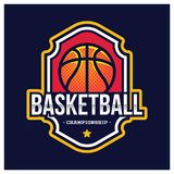 KOSZYKÓWKA sporta AMERYKAŃSKI logo Zdjęcia Royalty Free