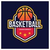 KOSZYKÓWKA sporta AMERYKAŃSKI logo Fotografia Stock
