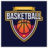 KOSZYKÓWKA sporta AMERYKAŃSKI logo Zdjęcie Royalty Free