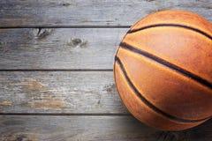 Koszykówka sporta Drewniany tło Obraz Royalty Free