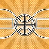 Koszykówka symbol Obrazy Royalty Free