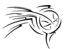 Koszykówka tatuaż Obraz Stock