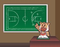 Koszykówka tygrysa trener ilustracja wektor
