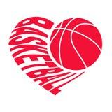 Koszykówka w sercu 1 royalty ilustracja
