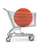 Koszykówka w wózek na zakupy Zdjęcia Royalty Free