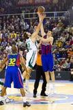 Koszykówki akcja Zdjęcia Royalty Free
