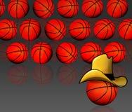 Koszykówki amerykański tło royalty ilustracja