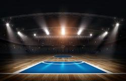 Koszykówki arena, 3d rendering ilustracji
