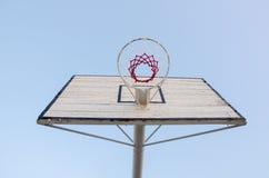 Koszykówki backboard i obręcz Zdjęcie Royalty Free