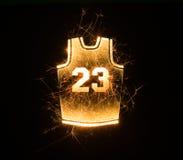 Koszykówki bydło 23 w iskrach Zdjęcia Stock