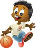 koszykówki chłopiec ilustracja wektor