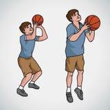 Koszykówki chłopiec pozy Zdjęcie Royalty Free