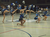 koszykówki cheerleaders hs jv Zdjęcia Royalty Free