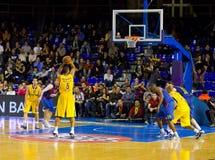 Koszykówki dopasowanie Barcelona vs Maccabi obraz royalty free