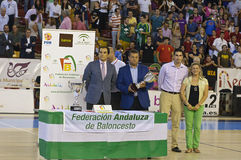 Koszykówki dopasowanie, Filiżanka Andalucia 2012 zdjęcia royalty free