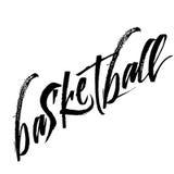 Koszykówki kaligrafii zwrot odizolowywający na tle Fotografia Stock