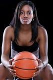 Koszykówki kobieta Fotografia Royalty Free