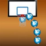 koszykówki kuli ziemskiej bawić się Zdjęcia Royalty Free