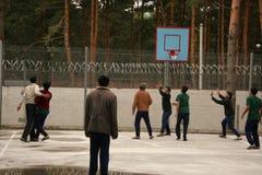 koszykówki mężczyzna bawić się Obraz Royalty Free