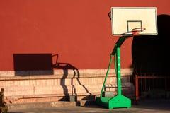 koszykówki miasto zakazujący stojaki Obrazy Stock