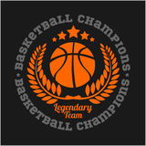Koszykówki mistrzostwa loga projekta i setu elementy Zdjęcia Stock