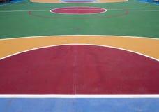 Koszykówki pole Obrazy Royalty Free