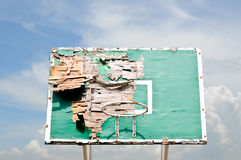 koszykówki ruina deskowa stara obraz stock