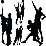 Koszykówki sylwetka Fotografia Royalty Free
