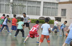 Koszykówki szkolenie Obraz Royalty Free
