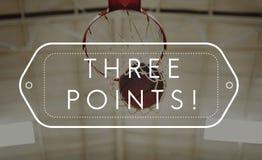 Koszykówki wygrania punktu rywalizaci pojęcie Fotografia Royalty Free