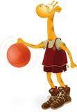 koszykówki żyrafy gracz Obrazy Stock