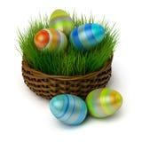 koszykowa Easter jajek trawa royalty ilustracja