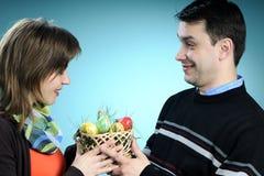 koszykowa Easter mężczyzna ofiara zdjęcie stock